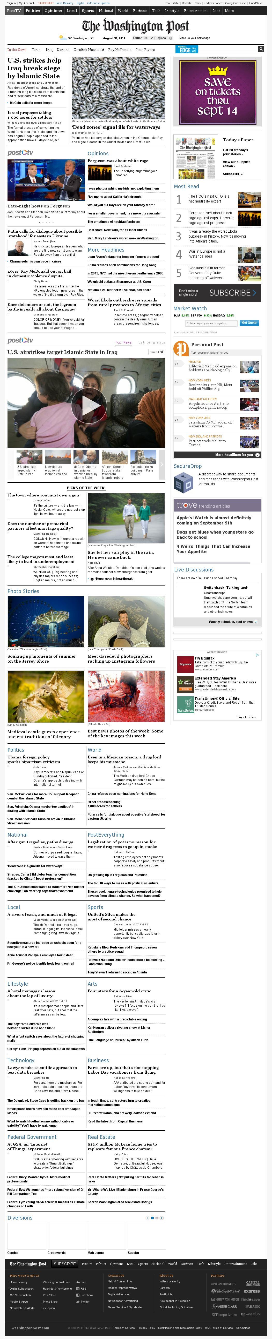 The Washington Post at Sunday Aug. 31, 2014, 11:24 p.m. UTC