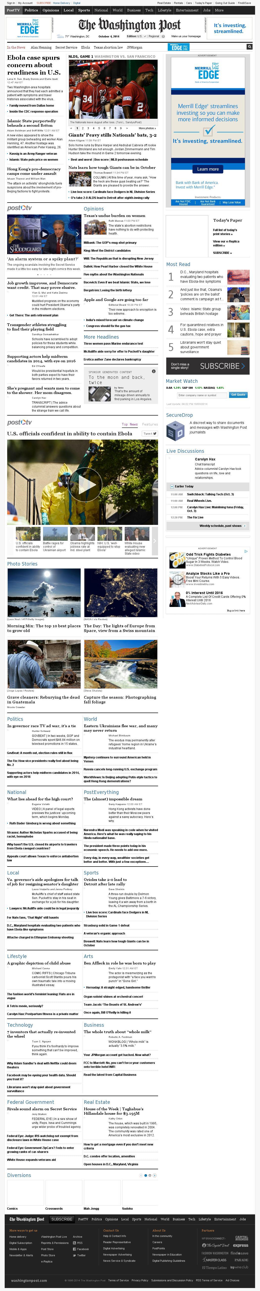 The Washington Post at Saturday Oct. 4, 2014, 1:27 a.m. UTC
