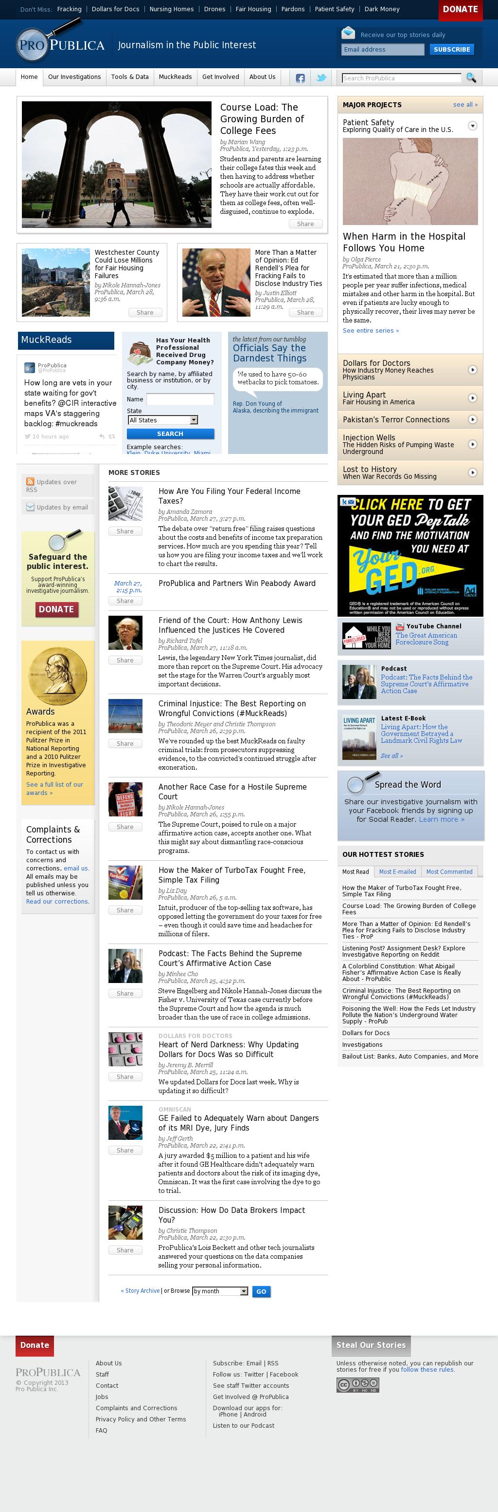 ProPublica at Saturday March 30, 2013, 5:29 a.m. UTC