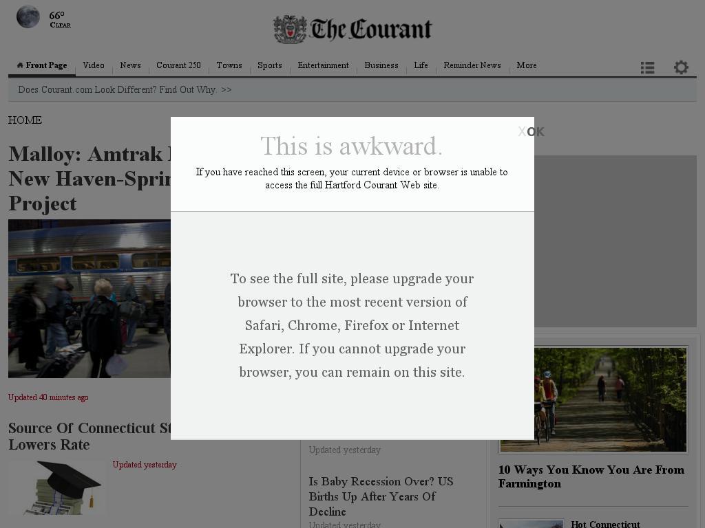 Hartford Courant at Thursday June 18, 2015, 12:13 a.m. UTC