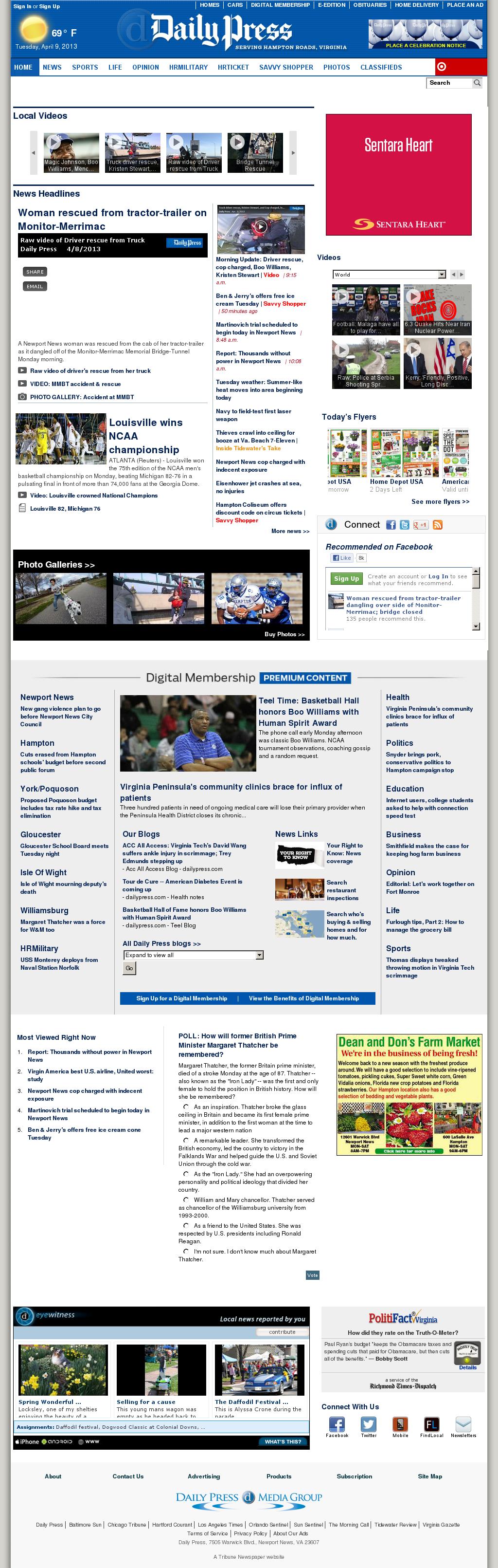(Hampton Roads) Daily Press at Tuesday April 9, 2013, 3:09 p.m. UTC