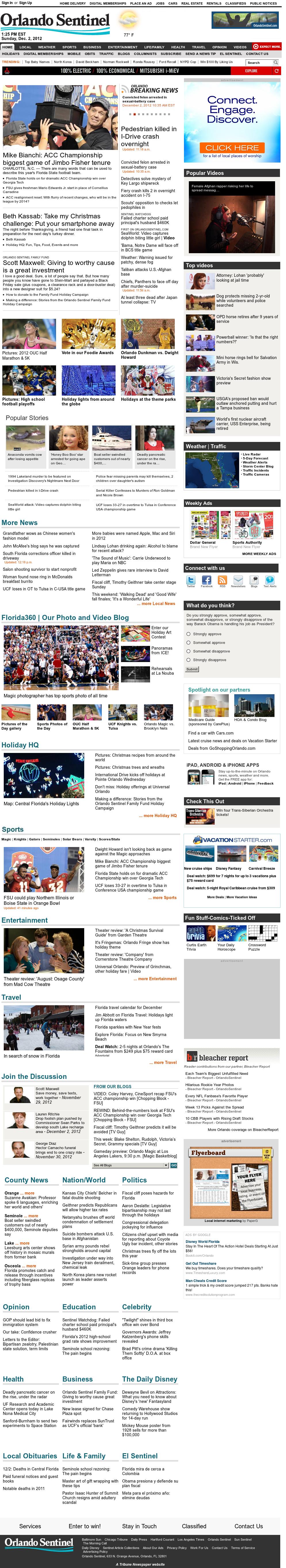 Orlando Sentinel at Sunday Dec. 2, 2012, 6:32 p.m. UTC