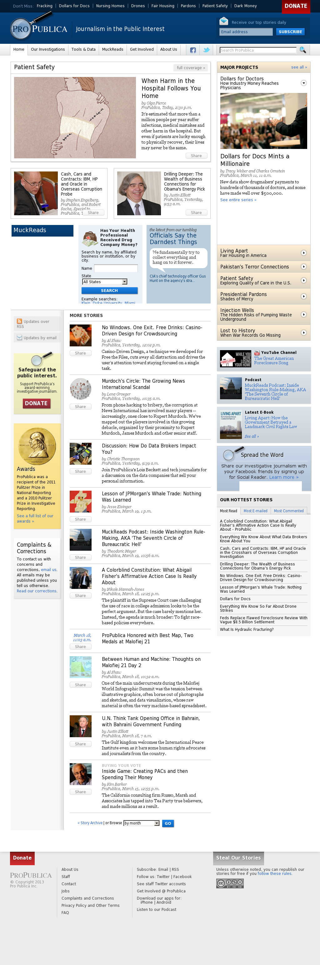 ProPublica at Thursday March 21, 2013, 8:18 p.m. UTC