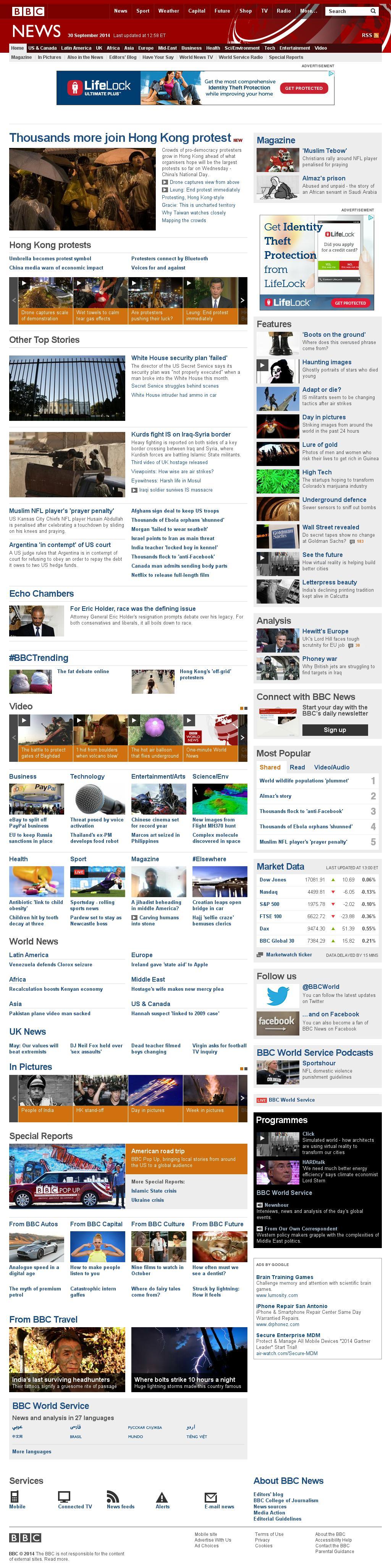 BBC at Tuesday Sept. 30, 2014, 5:01 p.m. UTC
