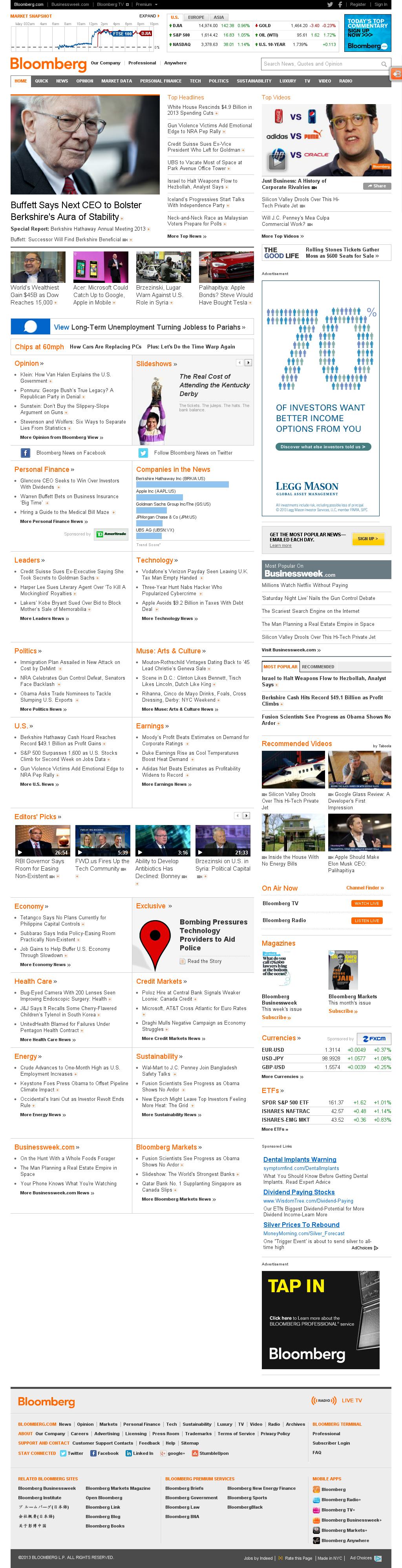 Bloomberg at Saturday May 4, 2013, 10:02 p.m. UTC