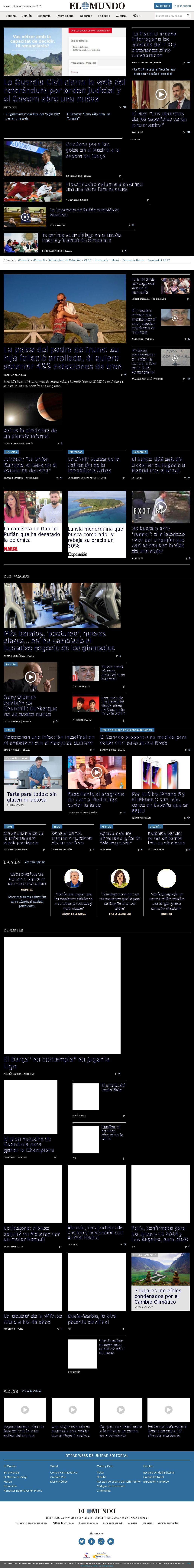El Mundo at Wednesday Sept. 13, 2017, 10:10 p.m. UTC