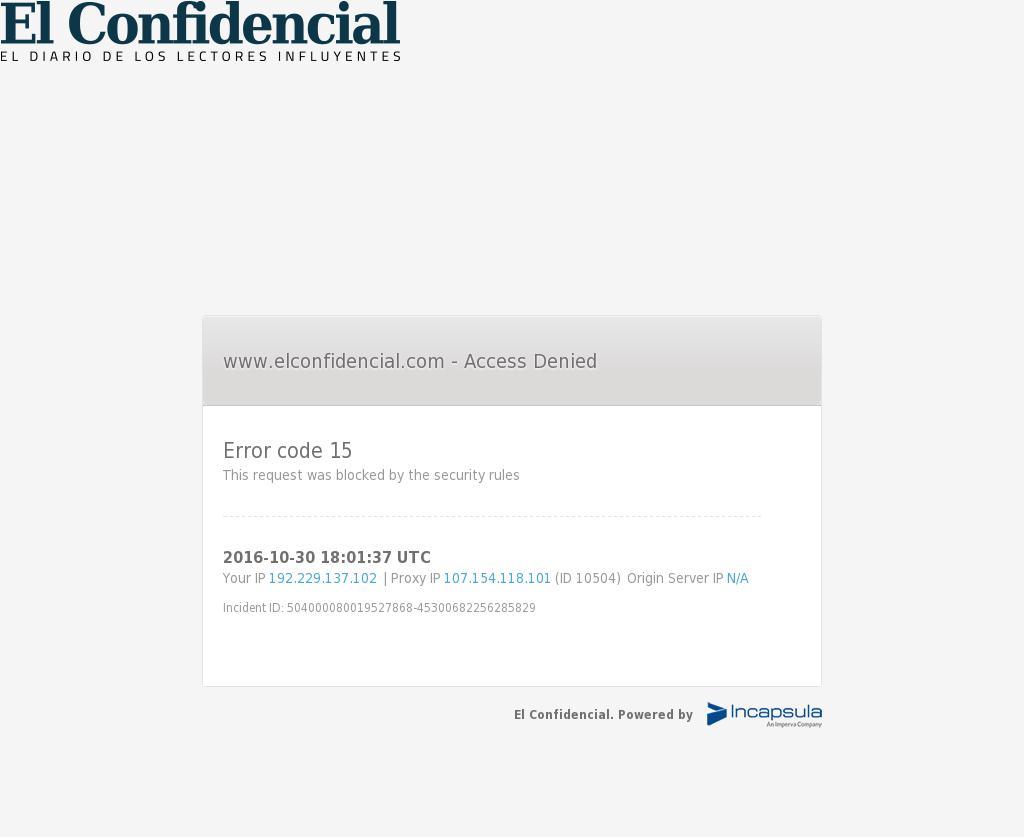 El Confidencial at Sunday Oct. 30, 2016, 6:03 p.m. UTC