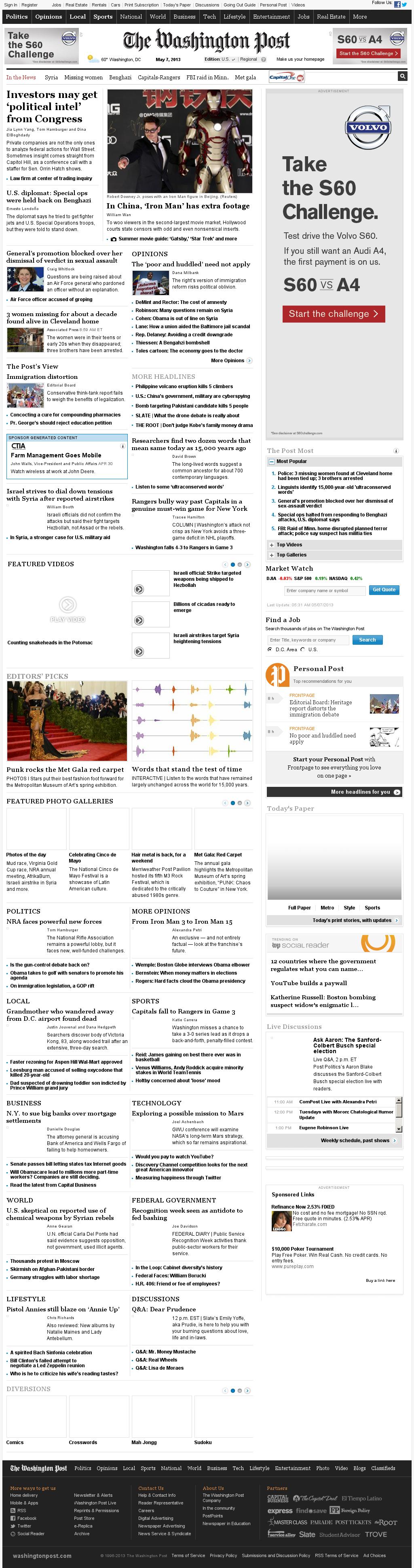 The Washington Post at Tuesday May 7, 2013, 9:34 a.m. UTC
